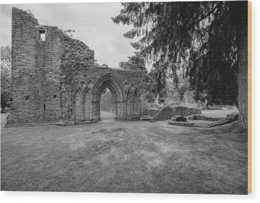 Inchmahome Priory Wood Print