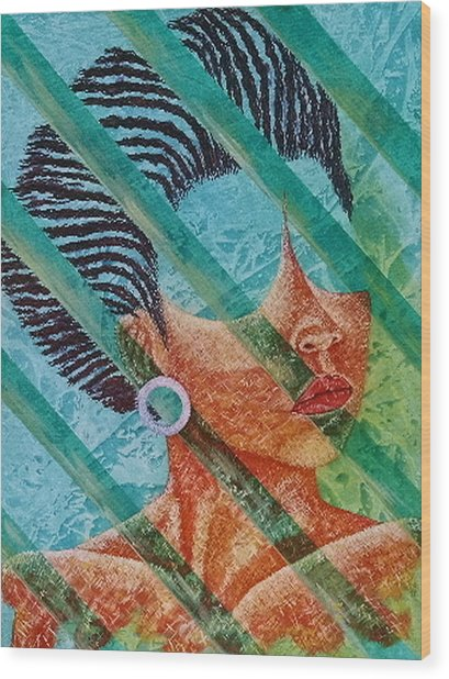 Independent Wood Print by Shahid Muqaddim