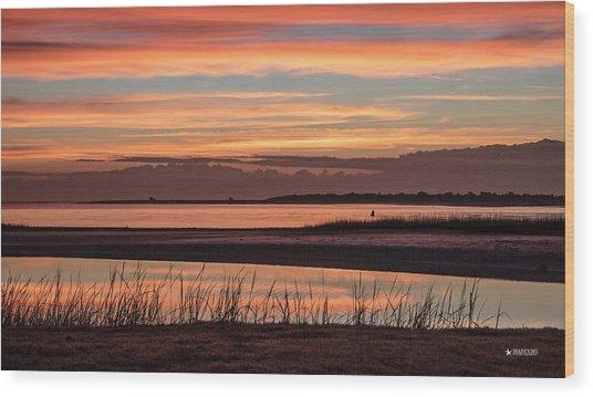 Inlet Watch Sunrise Wood Print
