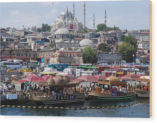 Istanbul Wood Print by Andrea Simon