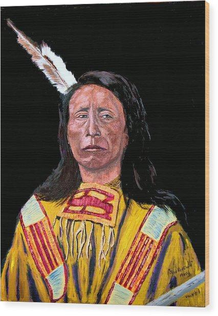Jack Red Cloud Wood Print by Stan Hamilton