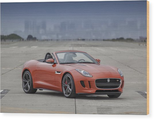 Wood Print featuring the photograph Jaguar F-type Convertible by ItzKirb Photography