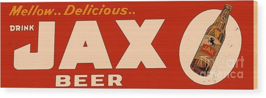 Jax Beer Of New Orleans Wood Print
