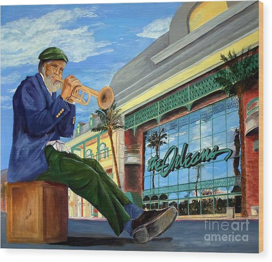 Jazz At The Orleans Wood Print
