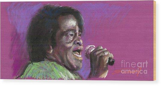 Jazz. James Brown. Wood Print
