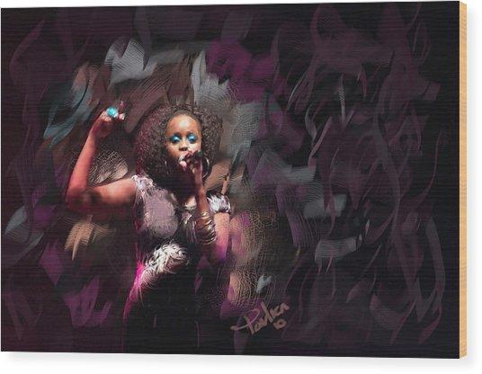 Jc Lady Sing Lady Sing Wood Print by Donald Pavlica
