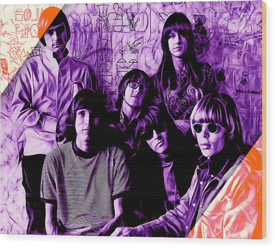 Jefferson Airplane Collection Wood Print