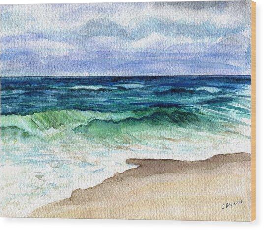 Jersey Shore Wood Print