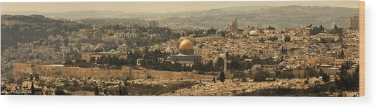 Jerusalem Wood Print by Amr Miqdadi