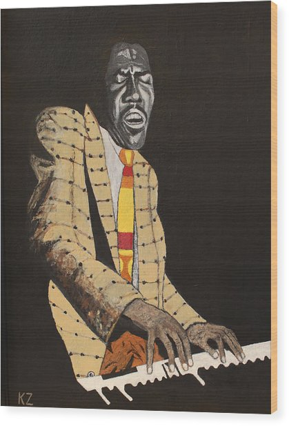 Jimmy Smith.king Of The Jazz Hammond B-3. Wood Print