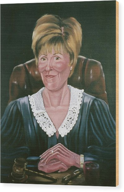 Judge Judy Wood Print