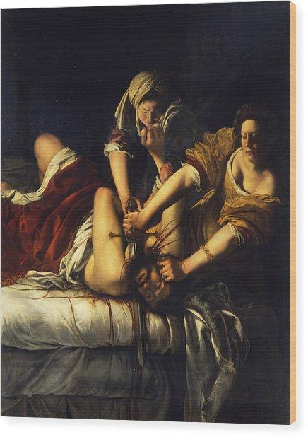 Judith Beheading Holofernes Wood Print