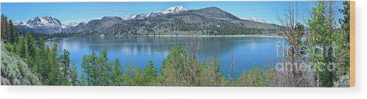 June Lake Panorama Wood Print