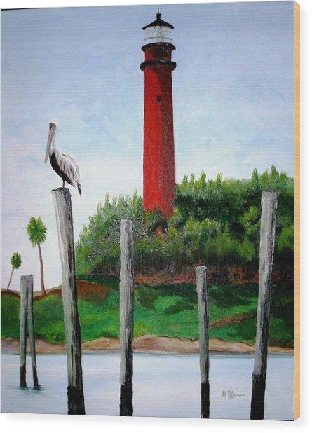 Jupiter Lighthouse Number Two Wood Print