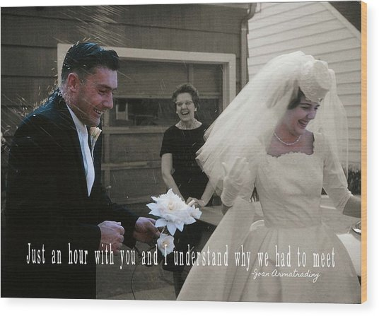 Just Married Quote Wood Print by JAMART Photography