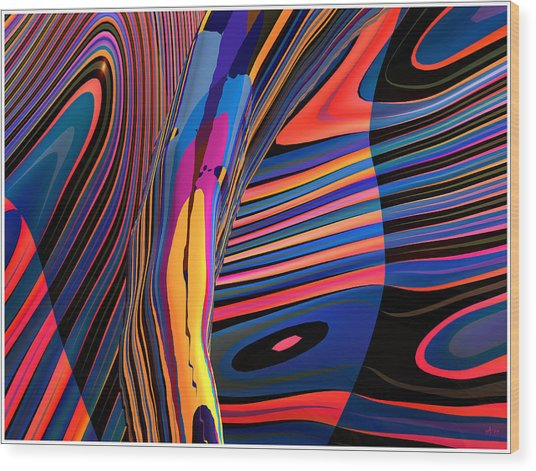 Kaleido-fa-callig. 10x11m37 Wide 11i Wood Print by Terry Anderson