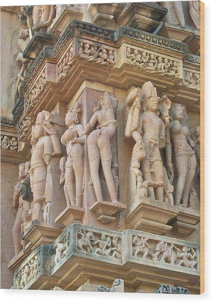Kama Sutra Temple Wood Print by Dorota Nowak