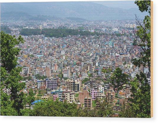 Kathmandu City In Nepal Wood Print
