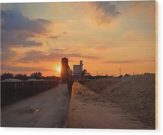 Katy Texas Sunset Wood Print