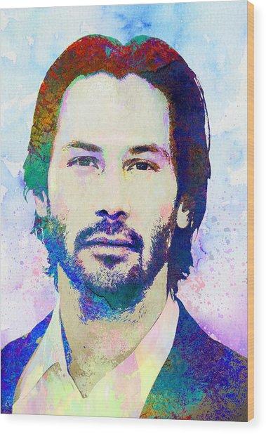 Keanu Reeves Wood Print