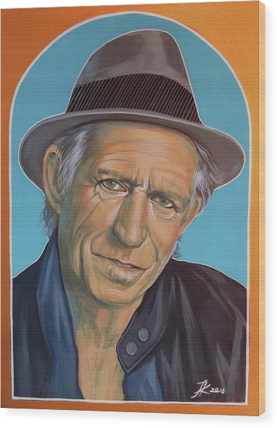 Keith Richards  Wood Print by Jovana Kolic