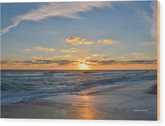 Kill Devil Hills Sunrise Wood Print