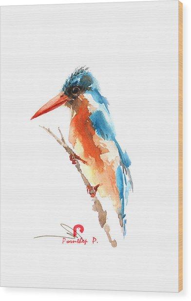 Kingfisher Bird Wood Print