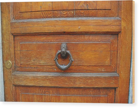 Knock Knock On Wood Wood Print by JAMART Photography