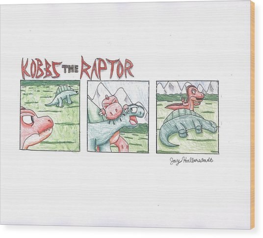 Kobbs The Raptor Wood Print by Jayson Halberstadt