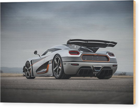 Koenigsegg One1 Wood Print