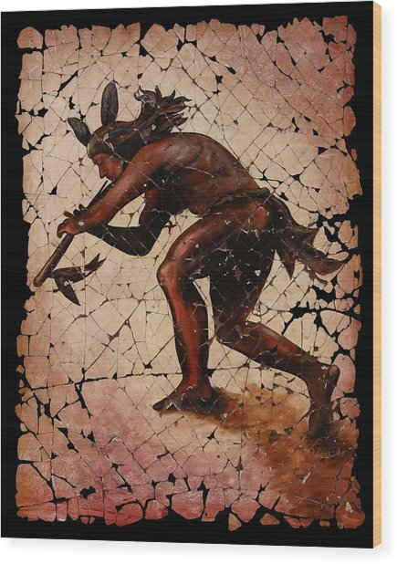 Kokopelli The Flute Player  Wood Print