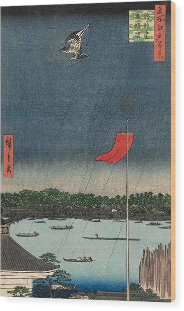 Komagata Hall And Azuma Bridge Wood Print