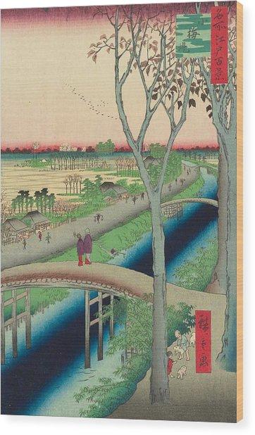 Koume Embankment Wood Print