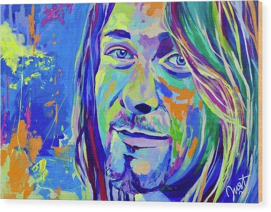 Kurt Cobain Wood Print