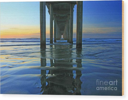 La Jolla Blue  Wood Print