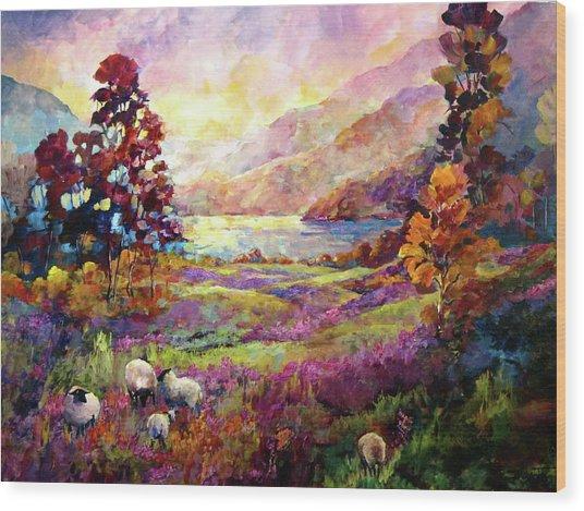 Lake Bala, Wales Wood Print
