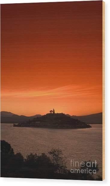 Lake Patzcuaro Wood Print