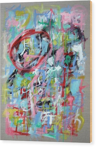 Large Abstract No 5 Wood Print by Michael Henderson