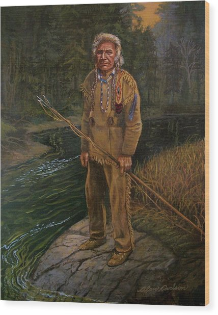 Last Fishing Trip Wood Print by Alan Carlson