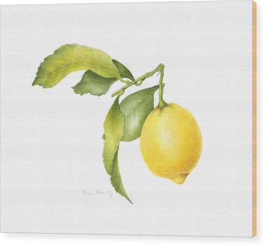 Lemon Wood Print by Fran Henig