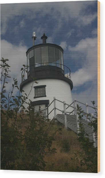 Lighthouse Wood Print by Dennis Curry