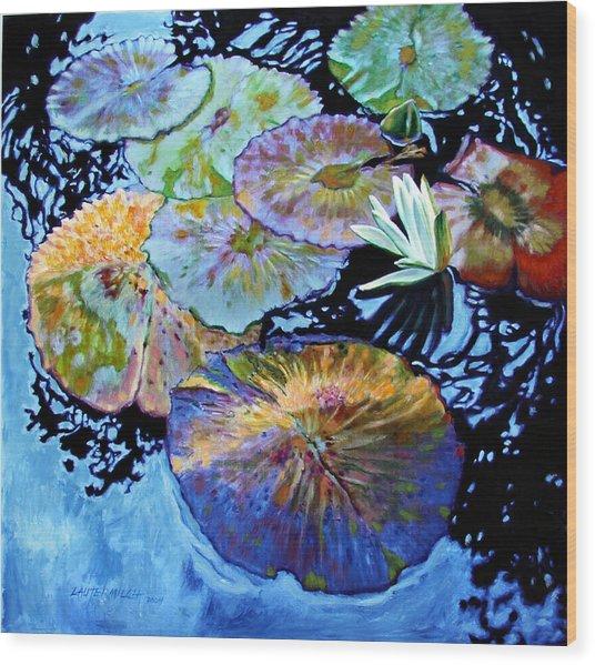 Lily Pad Palettes Wood Print
