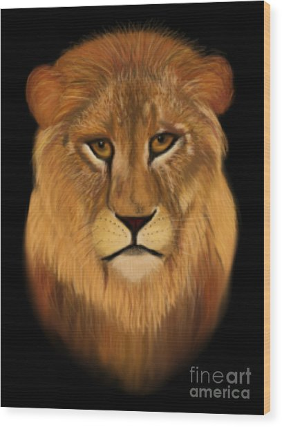 Lion - The King Of The Jungle Wood Print