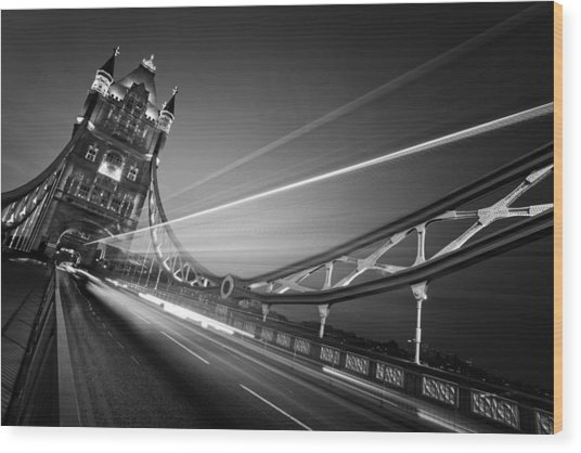 London Tower Bridge Wood Print by Nina Papiorek