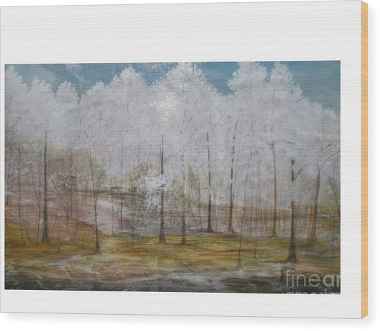 Maggie Valley Wood Print by Hal Newhouser