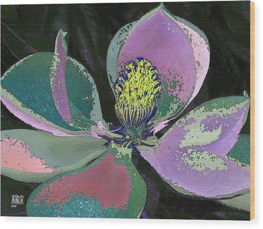 Magnolia Wood Print by Michele Caporaso