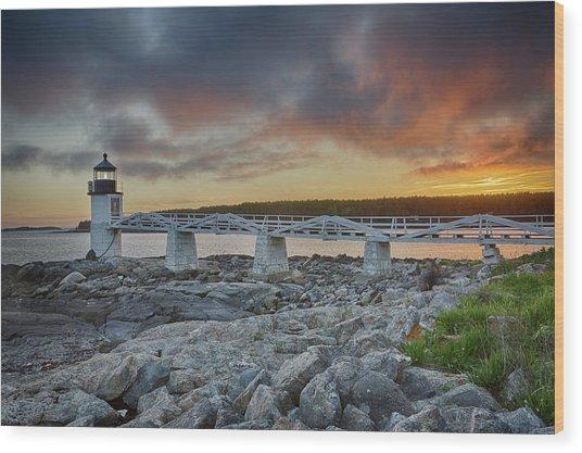 Marshall Point Lighthouse At Sunset, Maine, Usa Wood Print