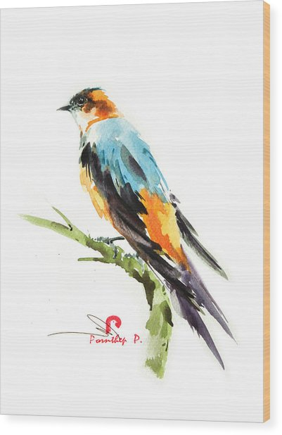 Martin Bird Wood Print