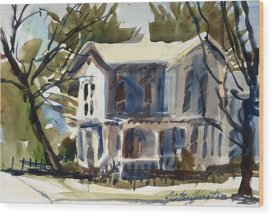 Mary Eck's House  Wood Print