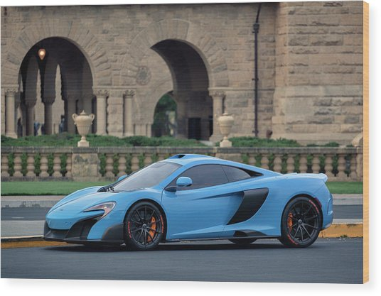 Wood Print featuring the photograph #mclaren #675lt With #pirelli #tires by ItzKirb Photography